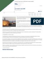 ONU Emite Alerta de _riesgo Nuclear_ Para 2018