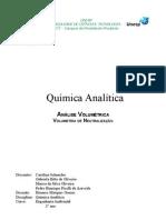 Relatório - Volumetria de Neutralização