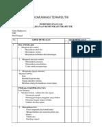 Daftar Tilik Komunikasi Terapeutik