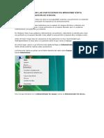 Como Administrar Las Particiones en Windows Vista Desde Administracion de Discos