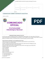 Comunicado Sobre Contrato Colectivo _ Colegio de Odontólogos de Venezuela