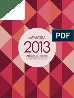 Memoria 2013 Artistas Del Acero