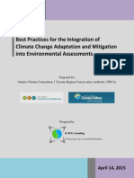 Best Practices for the Integration of Climate Change Into EAs Final Report