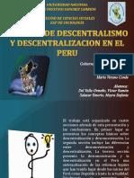 Descentralizacion y Desconcentracion en El Peru (1)