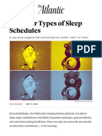 The Four Types of Sleep Schedules - The Atlantic