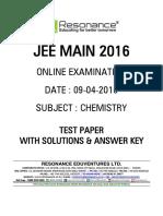 Jee Main 2016 Online CBT Solution Chemistry 09-04-2016