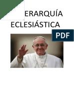 La Jerarquía Eclesiástica