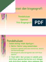 Spesiasi Dan Biogeografi1