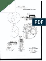 Aperture patent for homemade camera