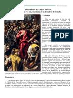 Comentario El Expolio El Greco