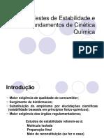 1 - Testes de estabilidade e fundamentos de cinetica quimica.pptx