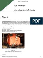 Class M1 – Sri Lanka Railways Info Page