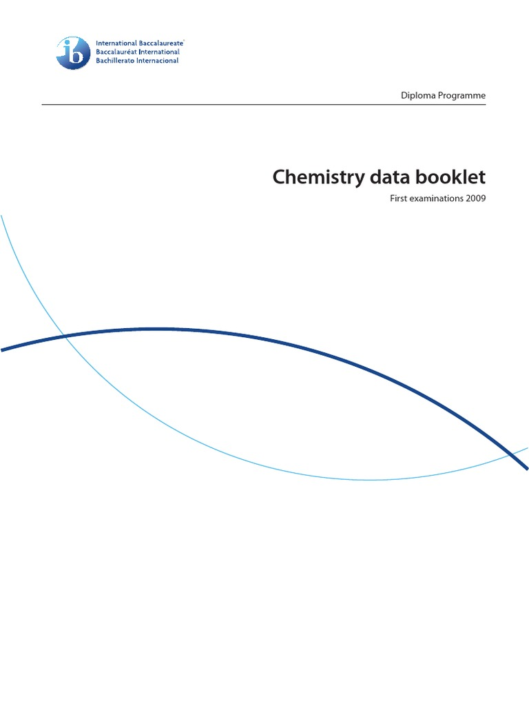 Chemistry Data Booklet Pdf