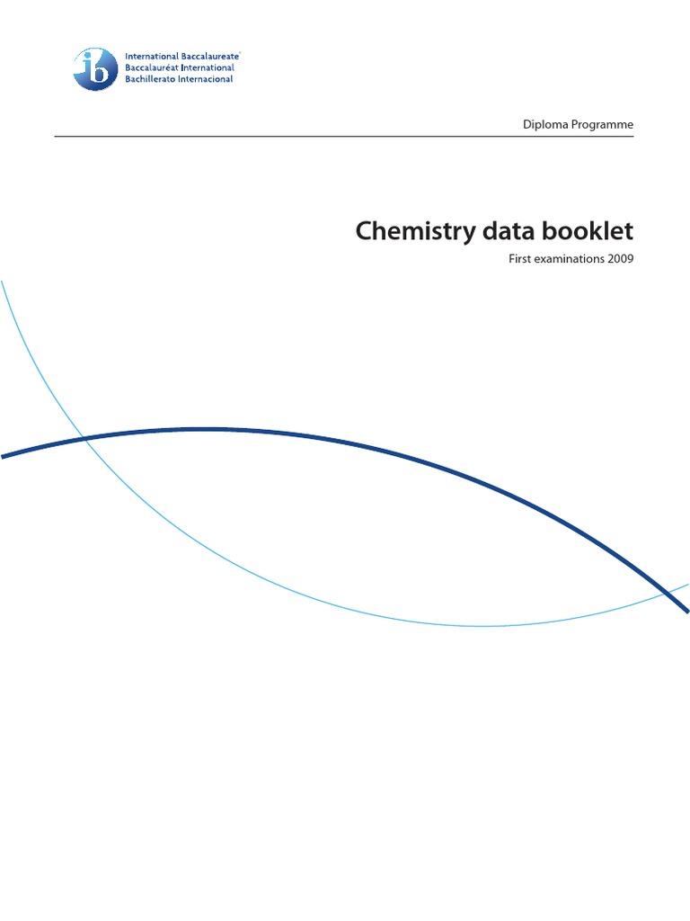 Chemistry Data Booklet Pdf