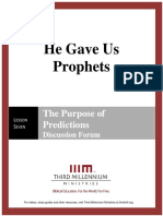 He Gave Us Prophets - Lesson 7 - Forum Transcript