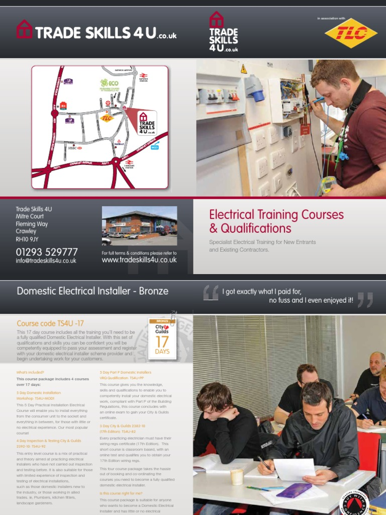 17 Edition Electrical Courses Wiring Regulations 17th 18th Course City Guilds 2382 18