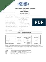 MSDS óxido de calcio.pdf