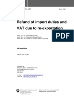 Refund of Import duties and vat duetore-exportation