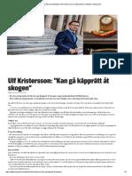 Moderaternas Partiledare Ulf Kristersson Om Integrationen _ Nyheter _ Expressen