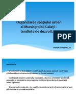 Organizarea Spatiului Urban Al Municipiului Galati