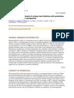 Probiotics for UTI
