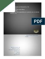 Integración de la gramática en contexto con el método AICLE y TIC