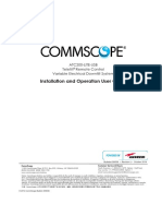 COMMSCOPE Installation and Operation User Guide