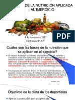 Bases de La Nutrición Aplicada Al Ejercicio