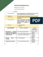 Proyecto de Aprendizaje Nº 05 Contaminacion