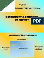 Managementul Echipei de Proiect