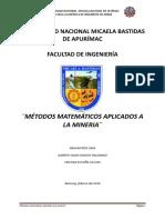 Aplicacion de Lalas Matematicas a La Mi9neria