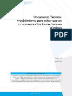Procedimiento Para Evitar Que Un Ransomware Cifre Nuestros Archivos