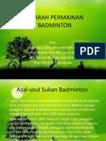 Sejarah Permainan Badminton