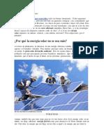 Acerca de Los Paneles Solares