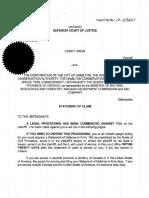 Statement of Claim, Issued Nov 27, 2017