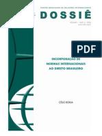 incorporação de tratados internacionais no Brasil