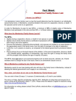 Membertou Family Homes Law Fact Sheet