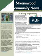 Streamwood Newsletter, Jan-Feb 2018