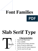 6 font families