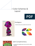 poster color scheme and layout