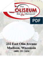 Coliseum Bar Menu - Madison, WI