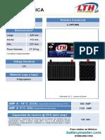 Bateria Lth Acumulador Automotriz Bateria de Servicio Pesado l31p 900