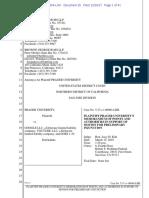 Prager's Injunction Bid