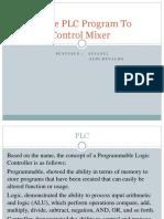 Simple PLC Program to Control Mixer
