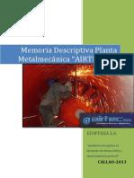 Memoria Descriptiva Planta Airtec