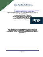 GESTÃO DO PROCESSO DE DESENVOLVIMENTO II