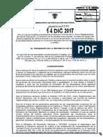 Decreto 2105-2017 Jornada Unica y Empleo Docente