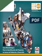 Mimp-guia Metodologica Para La Identificacion de Proyectos en Temas de Poblacion y Desarrollo 2013a