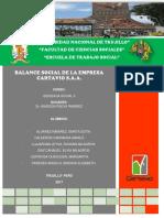 Balance Social Cartavio s.a.a.