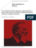 István Mészáros_ Igualdade Substantiva e Democracia Substantiva – Blog Da Boitempo